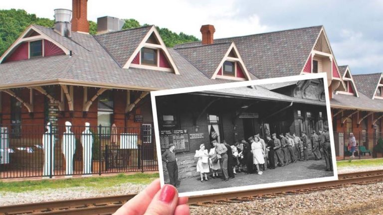 dennison depot modern picture with past picture overlay