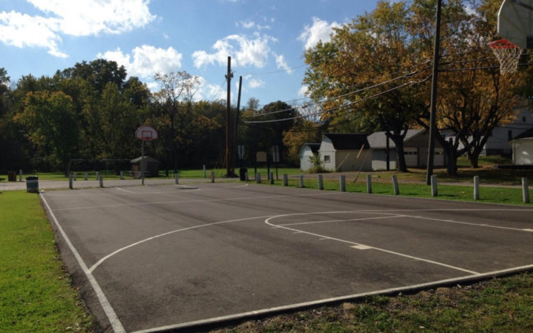basketball court at thornwood park in dennison ohio