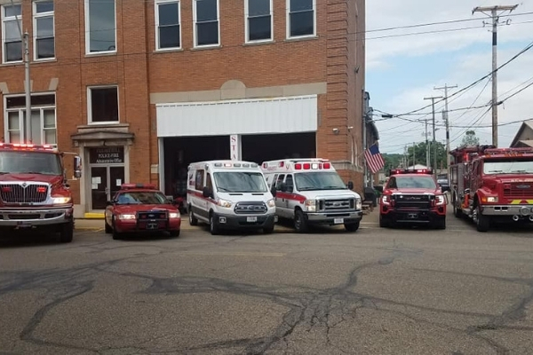Dennison Ohio Fire Department and Emergency Vehicles including fire trucks and ambulances